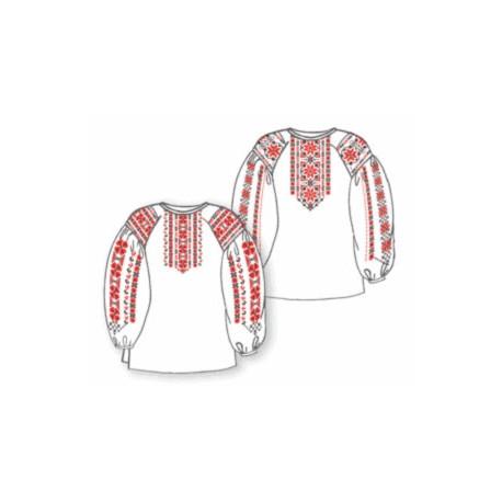 Сорочка женская под вышивку белая с длинным рукавом