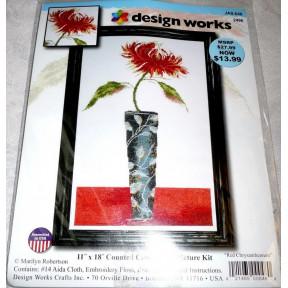 Набор для вышивания Design Works 2496 Red Chrysanthemum фото