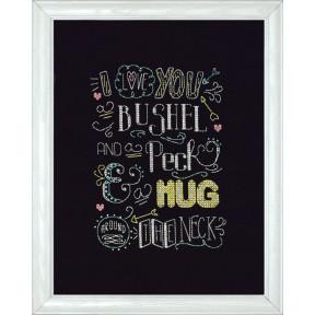 Набор для вышивания Design Works 2888 I love...Chalkboard фото