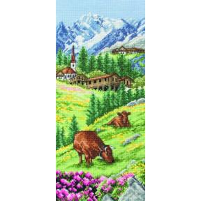 """Набор для вышивания Anchor PCE0811 """"Swiss Alpine Landscape""""Альпийский пейзаж"""""""
