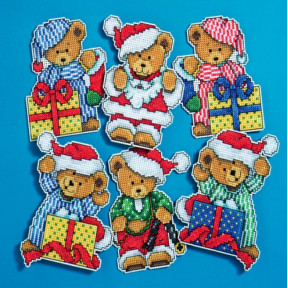 Набор для вышивания Design Works 1653 Little Christmas Bears