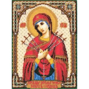 Набор для вышивки бисером Panna ЦМ-1262 Икона Божией Матери
