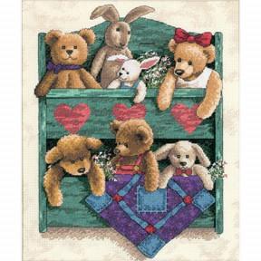 Набор для вышивания крестом Classic Design Полка с игрушками  4393