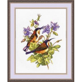 Набор для вышивки крестом Овен 944 Птички- невелички. Колибри