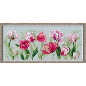 Набор для вышивки крестом Риолис 100/052 Весенние тюльпаны фото