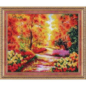 Набор для вышивания бисером Магия Канвы Б-318 Осенний сквер фото