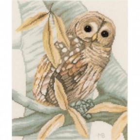 Набор для вышивания Lanarte PN-0158326 Owl and Autumn Leaves