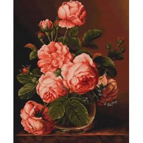 Набор для вышивки крестом Luca-S B488 Розы в вазе