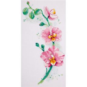 Набор для вышивки крестом и бисером Panna Ц-1887 Орхидея фото
