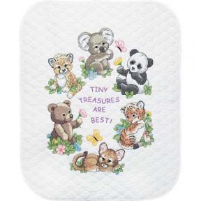 Набор для вышивания одеяла Dimensions 73064 Baby Animals Quilt