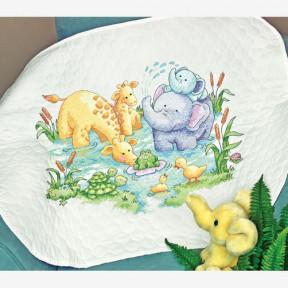Набор для вышивания одеяла Dimensions 70-73924 Little Pond