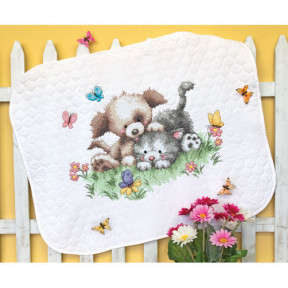 Набор для вышивания одеяла Dimensions 70-73882 Pet Friends