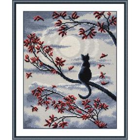 Набор для вышивки крестом Овен 865 Лунный кот