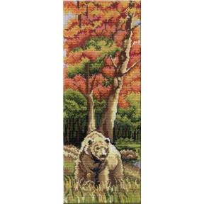 Набор для вышивки крестом МП Студия НВ-262 Триптих Медведь