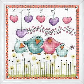 Набор для вышивания Design Works 2912 Bird Family фото