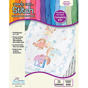 Набор для вышивания Janlynn 998-7001 Sleepy Bunnies Quilt фото