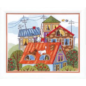 Набор для вышивания крестом Чарівна Мить ВТ-092 На крыше фото