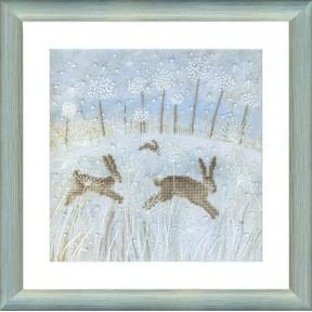 Набор для вышивки крестом Чарівна Мить М-238 Зимние зайцы