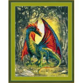 Набор для вышивки крестом Риолис РТ-0057 Лесной дракон