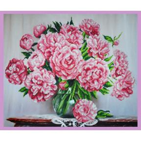 Набор для вышивания Картины Бисером Р-290 Букет розовых пионов