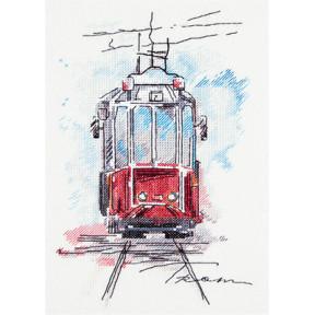 Набор для вышивки крестом Panna ГМ-1923 Городской трамвай фото
