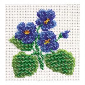 Набор для вышивания бисером ВДВ ВБ-02 Фиалка фото