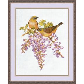 Набор для вышивки крестом Овен 945 Птички- невелички. Белоглазки
