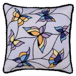"""Набор для вышивки крестом Риолис 1625 Подушка """"Витраж. Бабочки"""""""