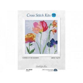Набор для вышивки крестом RTO M569 Цветы радуги / Flowers of the rainbow