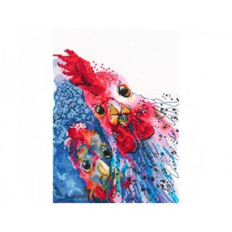 Набор для вышивки крестиком RTO M658 Жареная курица с