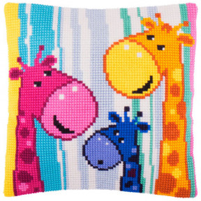 Набор для вышивки подушки Чарівниця Z-55 Жирафы фото
