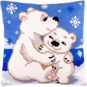 Набор для вышивки подушки Чарівниця Z-56 Белые медведи фото