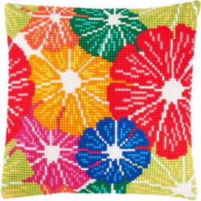 Набор для вышивки подушки Чарівниця Z-57 Радужные цветы фото