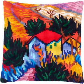 Набор для вышивки подушки Чарівниця Z-59 «Пейзаж с домом и