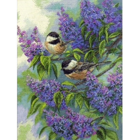 Набор для вышивки Dimensions 35258 Chickadees and Lilacs