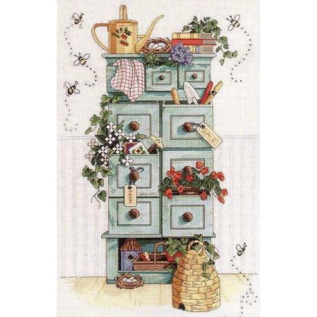 Набор для вышивания крестом Classic Design 4404 Садовый комод