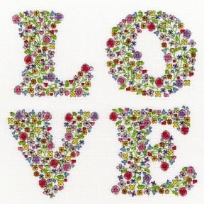 """Набор для вышивания крестом Bothy Threads XST3 LOVE """"Любовь"""""""
