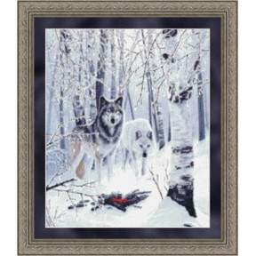 Набор для вышивания Kustom Krafts 99897 Winter Wolves фото