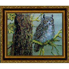 Набор для вышивания Kustom Krafts MBW-006 Great Horned Owl фото