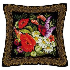 """Набор для вышивки крестом Риолис 1642 Подушка """"Жостовская"""