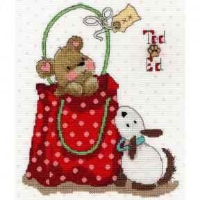 Набор для вышивания крестом Bothy Threads XMS12 Ted фото