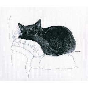 Набор для вышивки крестом RTO M668 Среди черных котов