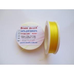Бисерная нить TYTAN 2507 желтая 100м