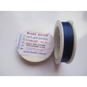 Бисерная нить TYTAN 2784 синяя 100м