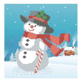 Набор для вышивания бисером ВДВ ВБ-42 Снеговик фото