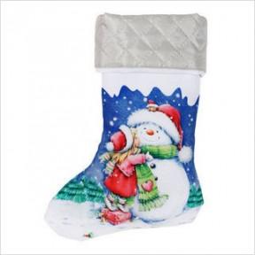 Набор для сшивания ВДВ ТН-0689 Новогодний сапожок фото