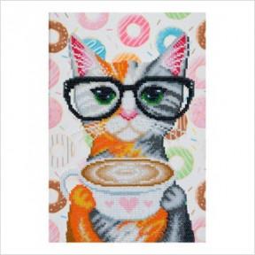 Набор для вышивания бисером ВДВ ТН-0756 Кофейная кошка фото