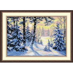 Набор для вышивки крестом Овен 698 Зимний лес