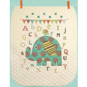 Набор для вышивания детского одеяла 70-74130 Baby Elephant ABC
