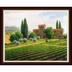 Набор для вышивания крестиком OLanTa VN-038 Виноградники фото